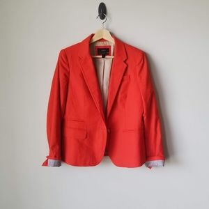 J Crew Schoolboy Blazer Jacket Orange Sz 10